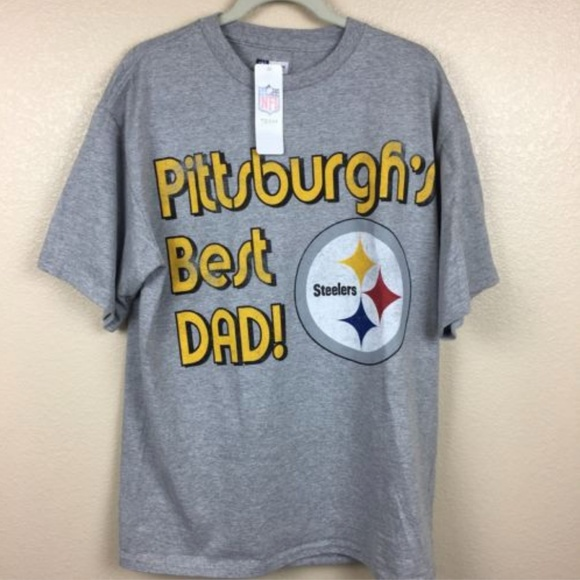 NEW NFL Team Apparel Pittsburgh Steeler Best Dad L 4c47511a2